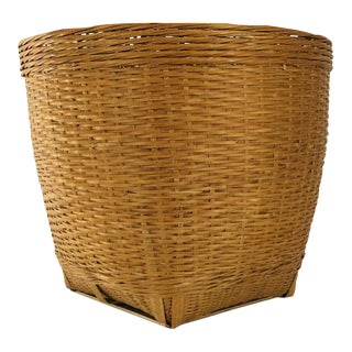 Vintage Woven Planter Basket