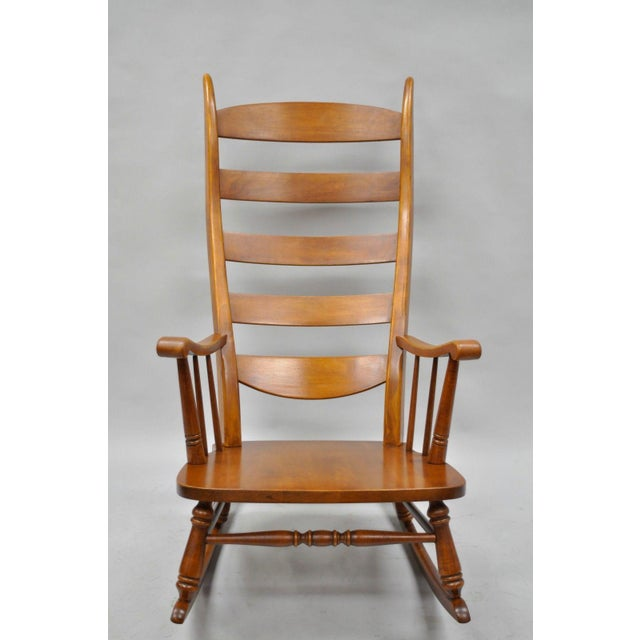 Mid-Century Tell City Maple Sculptural Ladder Back Rocking Chair - Image 3 of 11