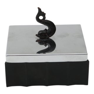 Art Deco Box With Dolphin Finial