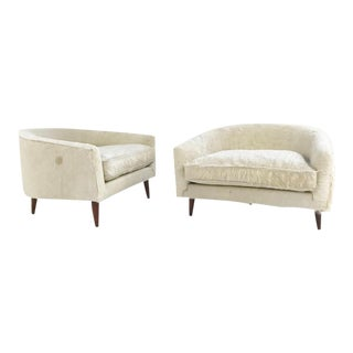 Forsyth One of a Kind Very Rare Adrian Pearsall Cloud Chairs in Brazilian Cowhide - Pair