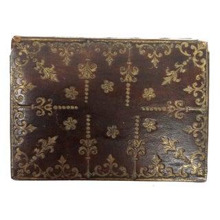 Mini Fleur-de-Lis Leather Box