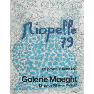 1979 Original Exhibition Poster, Riopelle - Galerie Maeght Lelong