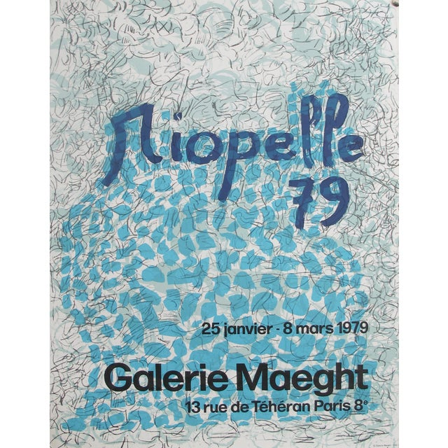 1979 Original Exhibition Poster, Riopelle - Galerie Maeght Lelong - Image 1 of 3