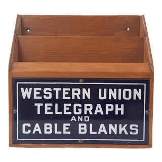 Western Union Telegraph & Cable Blanks Box
