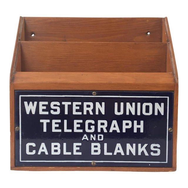 Western Union Telegraph & Cable Blanks Box - Image 1 of 11