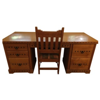Southwest-Style Executive Desk & Chair