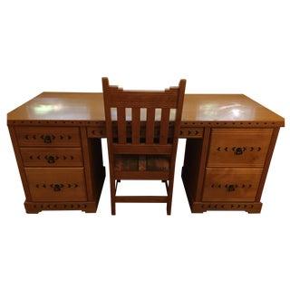 Southwest-Style Executive Desk & Chair