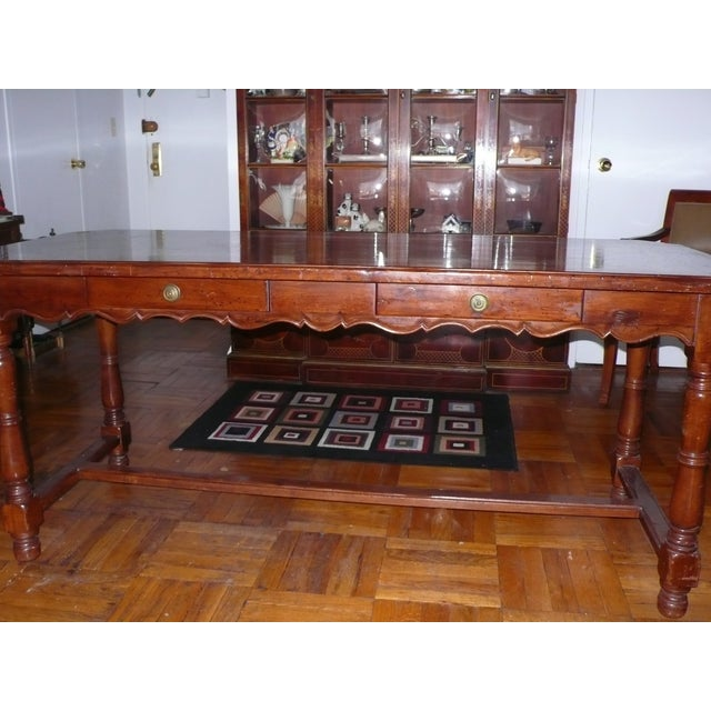 French Provincial Italian Library/Dining Table - Image 4 of 6