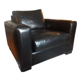 Room & Board Black Leather Chair