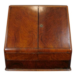 Antique Table Top Mahogany Stationary Cabinet