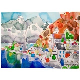 """Hallstatt"" Watercolor Painting"