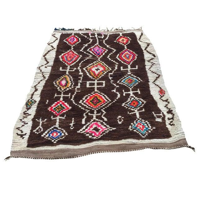 Azilal Moroccan Wool Rug - 4′5″ × 6′1″ - Image 1 of 7