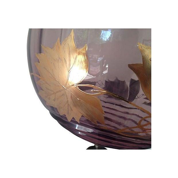 Amethyst Glass & Gold Leaf Pendant - Image 3 of 6