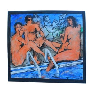 Pool Still Life Figural Painting by Savage