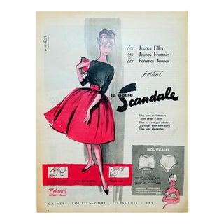 Roger Blonde 1960 Scandale Lingerie Ad