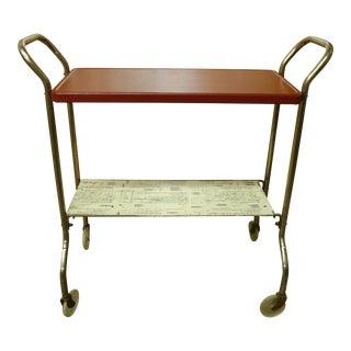 Vintage Metal Bar Cart