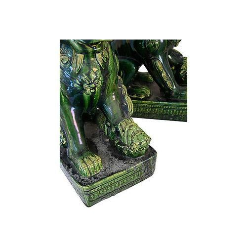Vintage Grand Emerald Foo Dogs - S/2 - Image 4 of 7