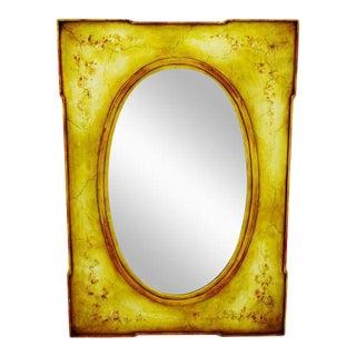 Vintage Handpainted Distressed Mirror
