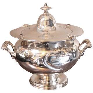 Art Nouveau Silver-Plate Tureen