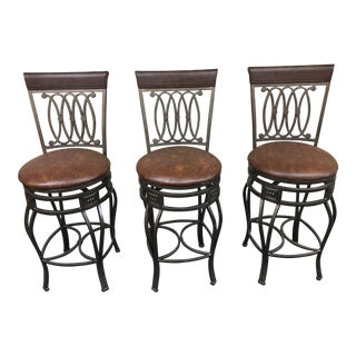 Sunrise Home Swivel Counter Height Barstools - Set of 3