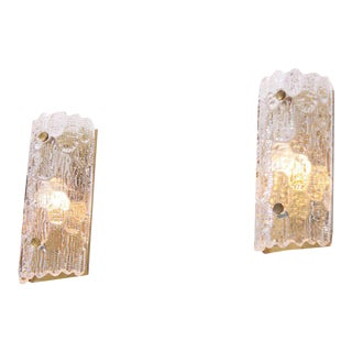 Pair of Wall Lamps by Carl Fagerlund for Orrefors