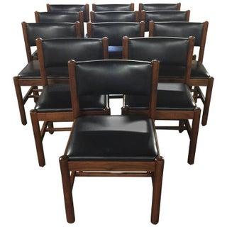 Danish Modern Walnut Dining Chairs - Set of 12