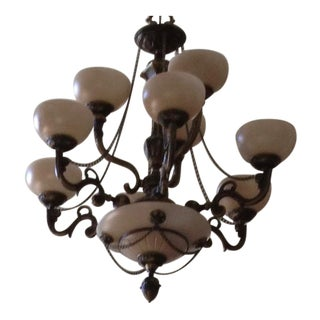 Crystorama Natural Alabaster 9-Light Chandelier