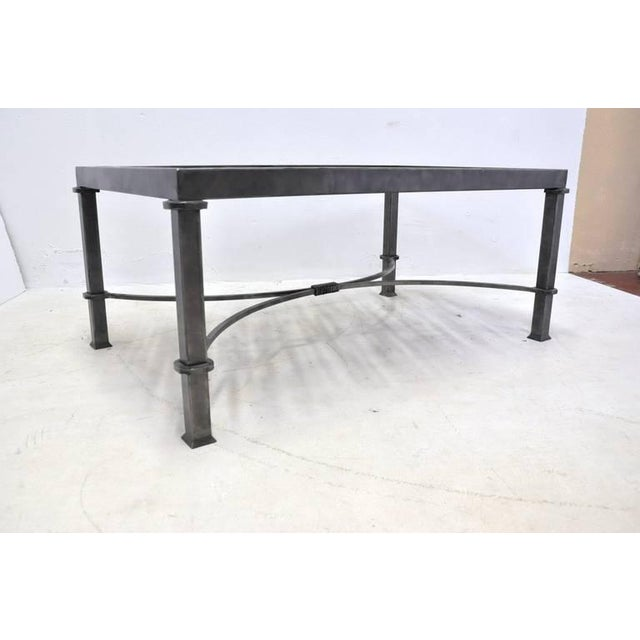 19th century french balcony polished iron coffee table for Table th width ignored