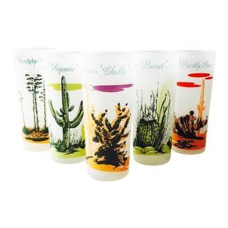 Vintage Blakely Cactus Tumblers- Set of 5