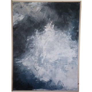 """""""Layered Clouds"""" Framed Abstract Art by Kris Gould"""