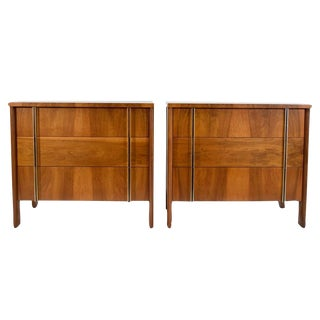 Pair Widdicomb Chest in Walnut