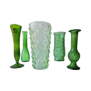 Green Curiosity Vessels - Set of 5