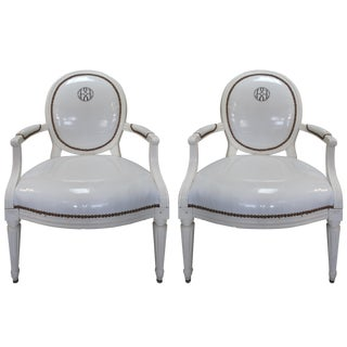 Antique Louis XVI Style Chairs - A Pair