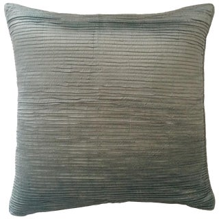 Teal Textured Pillow Cover