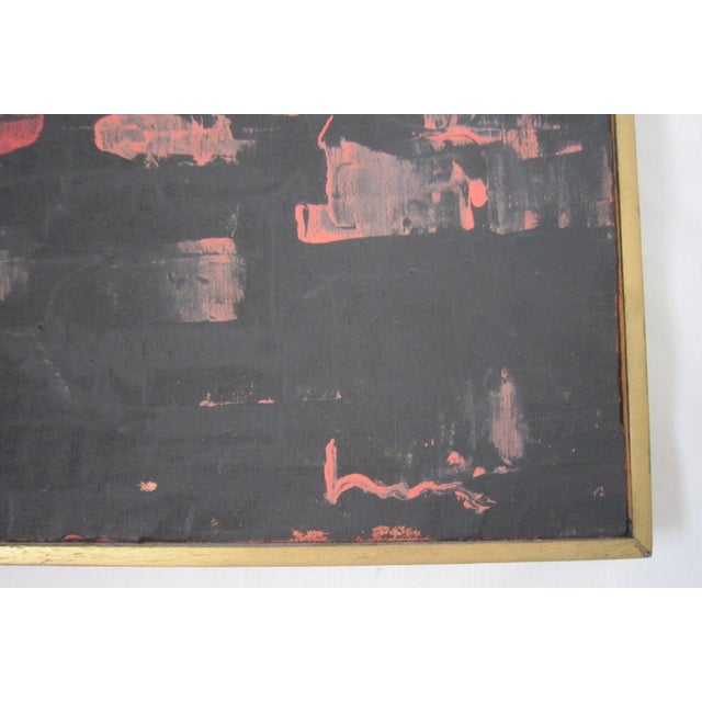 Mid-Century Signed Abstract Painting - Image 3 of 6