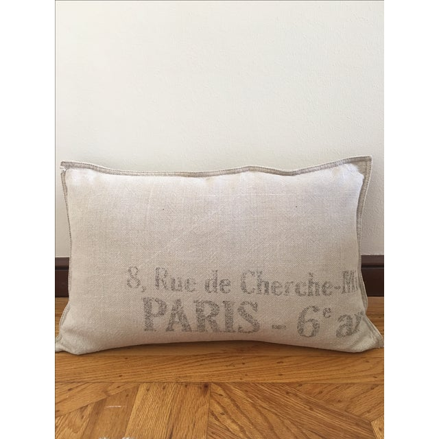Throw Pillows Rust : Restoration Hardware French Linen Pillow Chairish