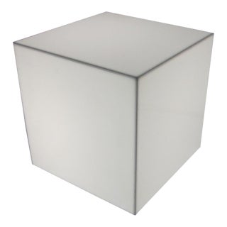 Pair of Interior Lit Acrylic Cube Side Tables