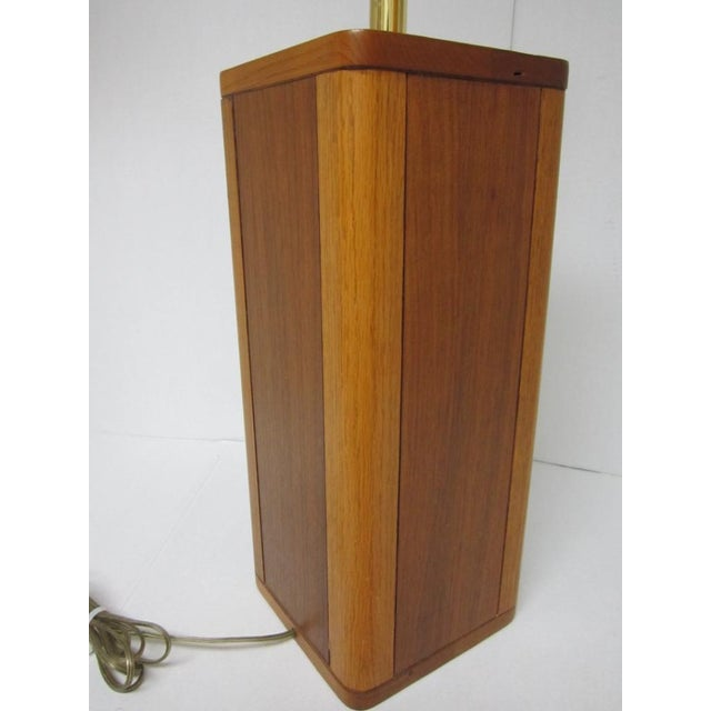 Mid Century Modern Solid Wood Table Lamp - Image 3 of 10