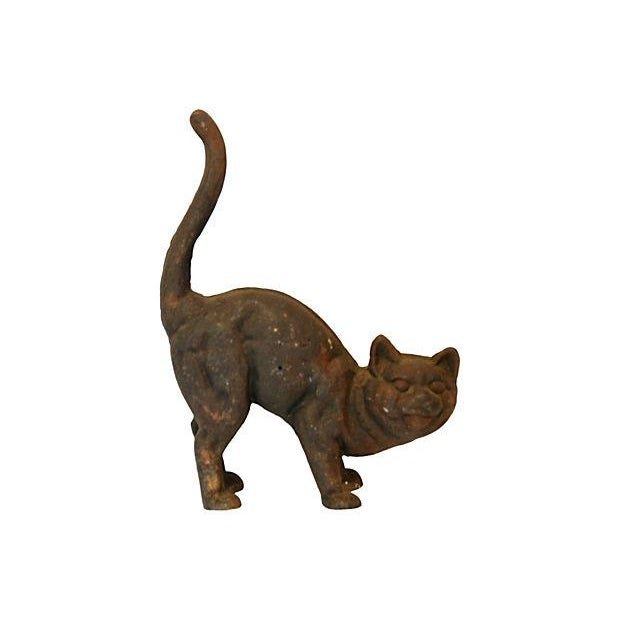 Vintage Cast Iron Cat Doorstop - Image 7 of 7