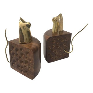 Mice & Cheese Bookends - A Pair