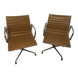 Eames Style Gold Office Chairs - A Pair