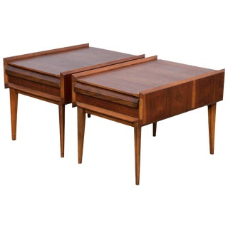 Pair of Mid-Century Modern Andre Bus Designed End Tables