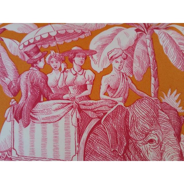 Pierre Frey Elephant Toile Pillow - Image 4 of 7