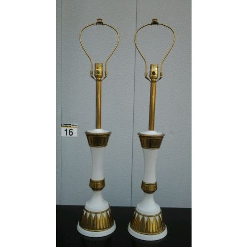 Image of 1960s Modern Stiffel Table Lamps - A Pair