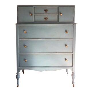 Antique Blue Wooden Dresser