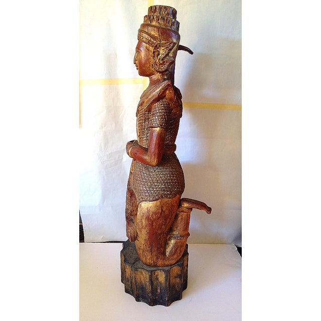 Large Wooden Dancing Figure - Image 3 of 11