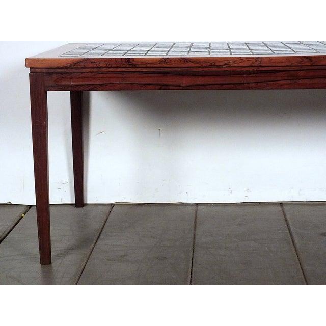 Mid Century Tile Top Coffee Table: Mid-Century Ceramic Tile-Top Coffee Table