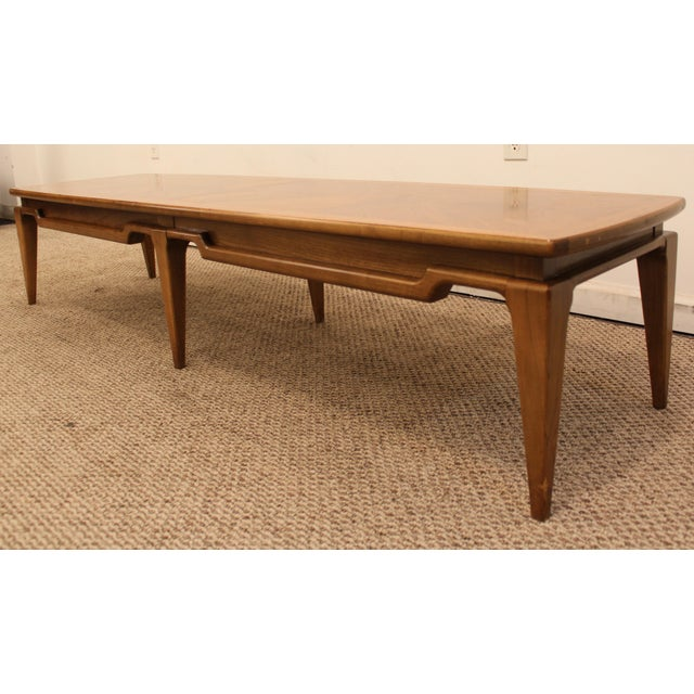 Lane Mid Century Surfboard Coffee Table: Lane Danish Modern Walnut Surfboard Coffee Table