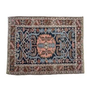 "Vintage Karaja Persian Square Rug - 2'10"" X 4'2"""