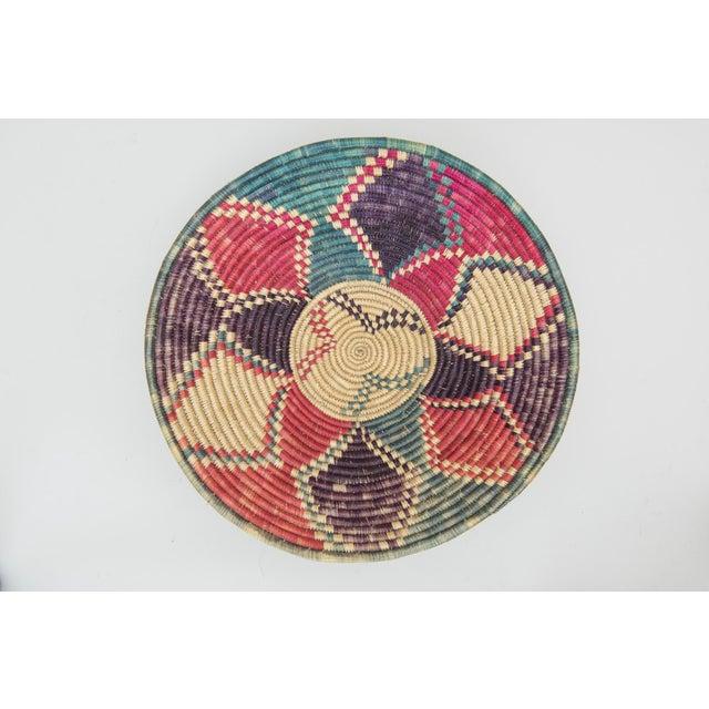 Image of Vintage Footed African Basket